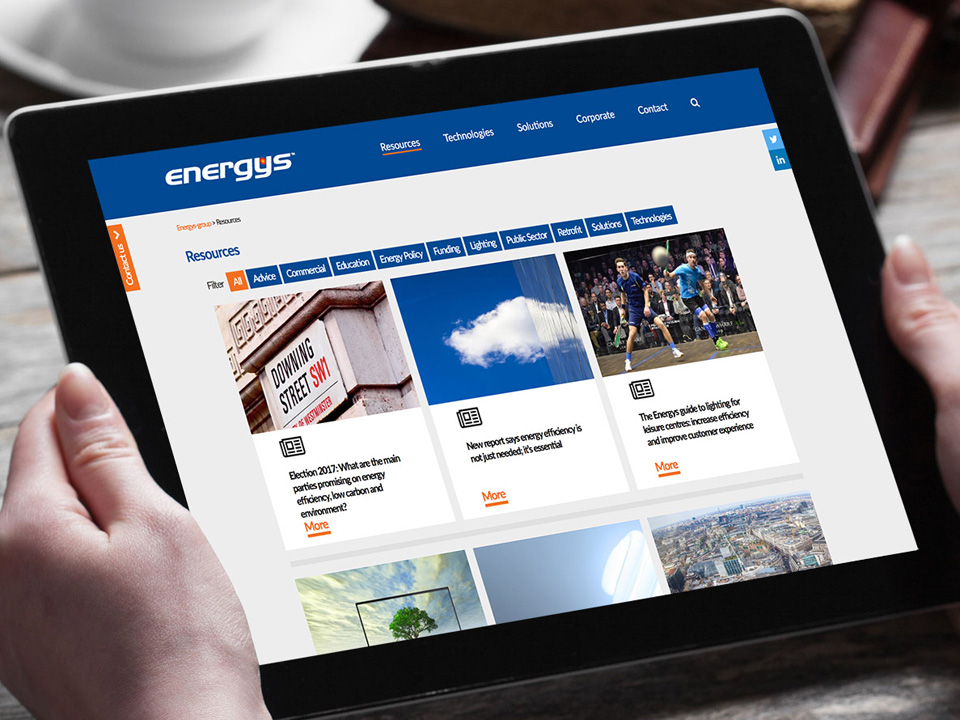 Content rich web content for Energys Group