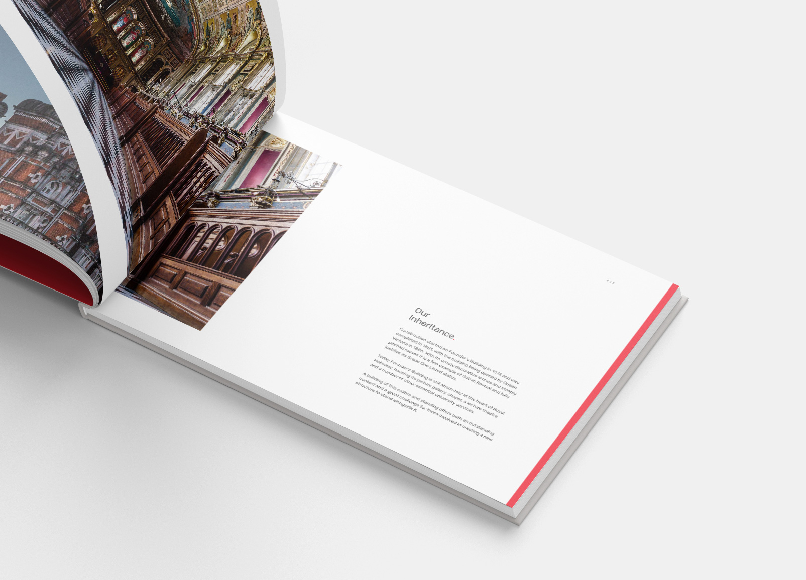 Our book to show off the Emily Wilding Davidson Library at Royal Holloway University