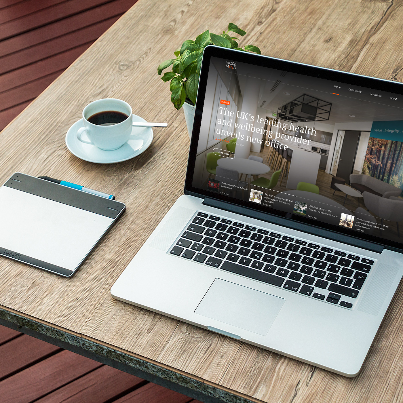 Work in Mind Laptop Mockup