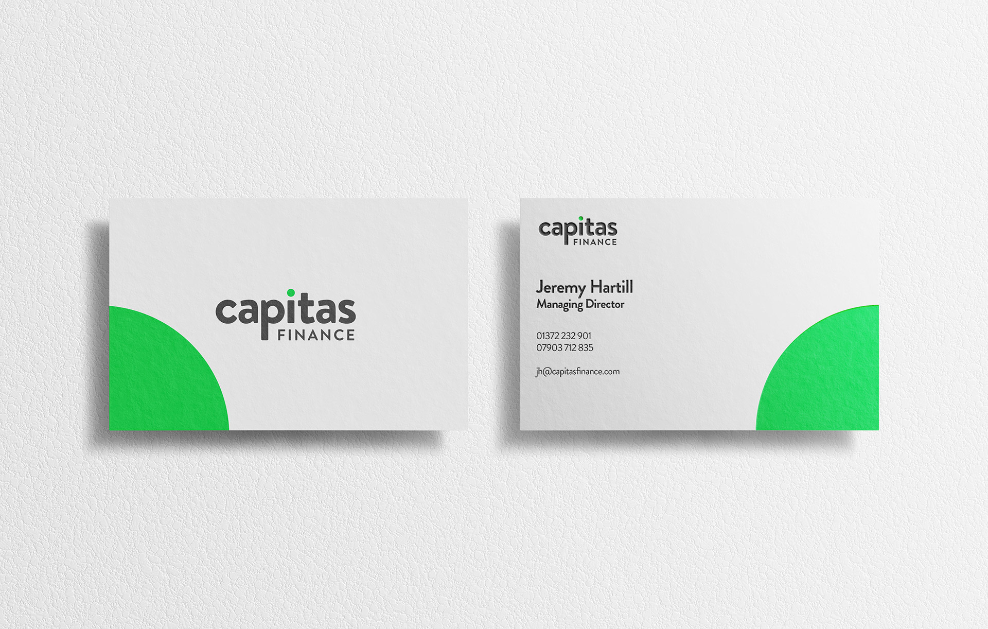 Capitas Finance - Business Card Designs