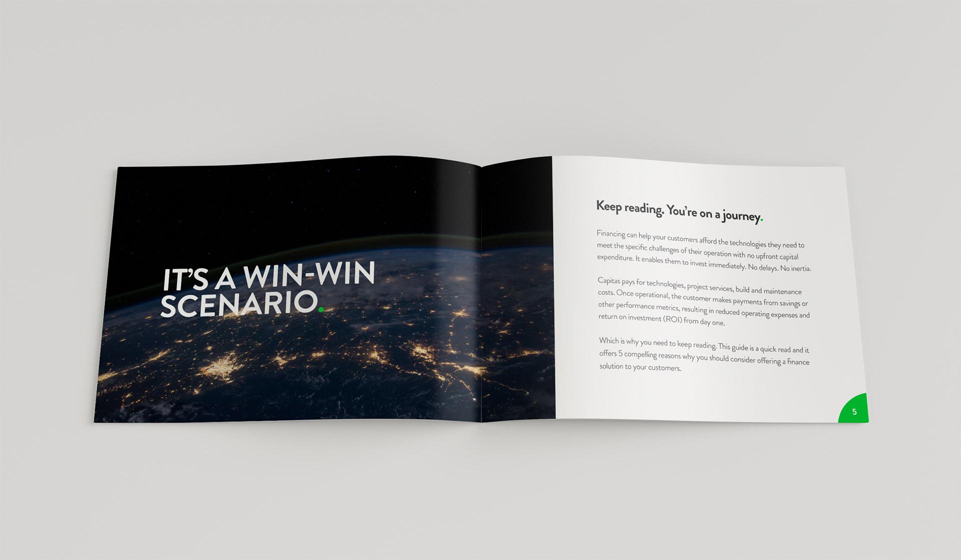 Capitas Finance - A5 Landscape Partners Guide Design
