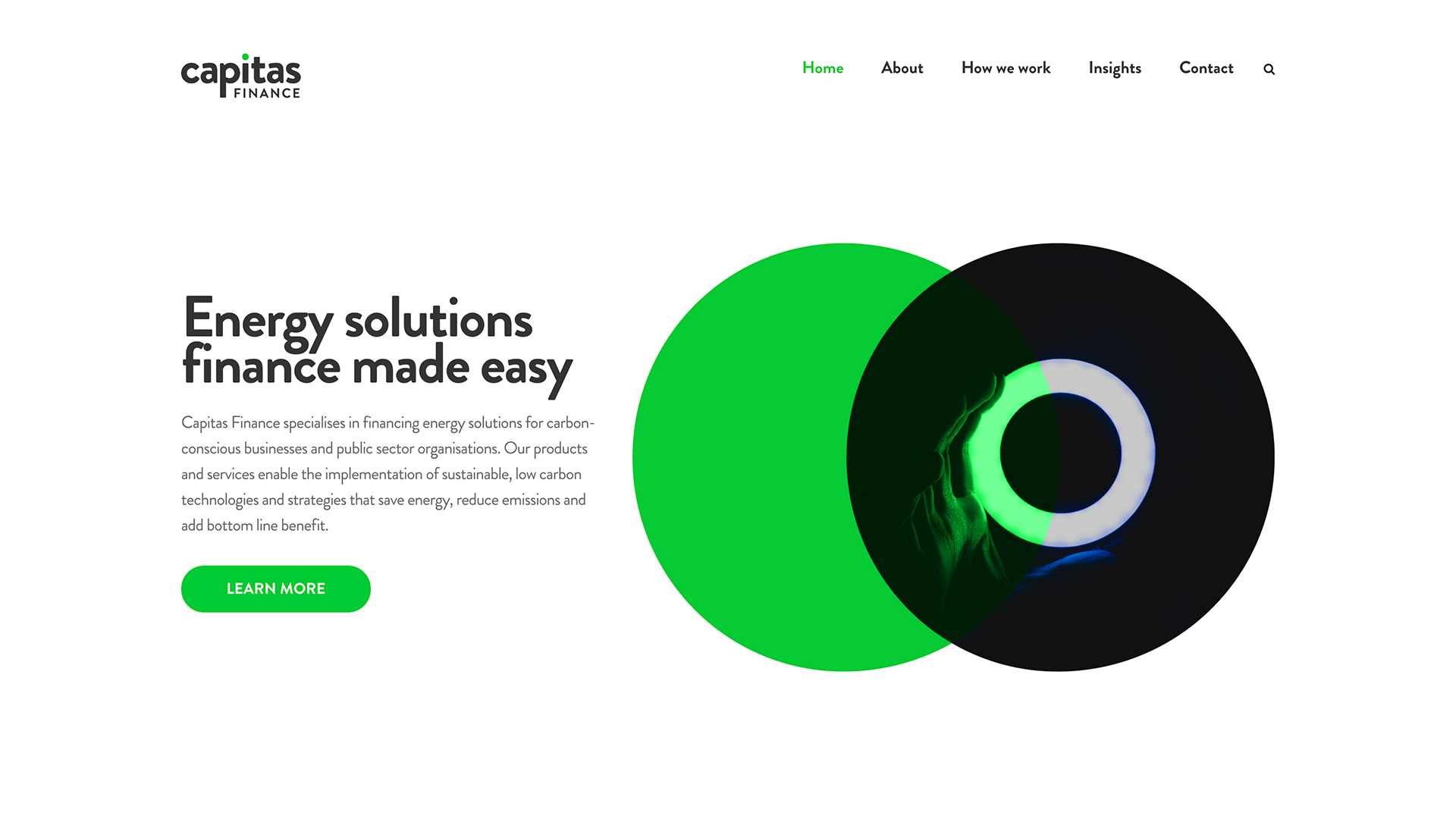 Capitas Finance website design