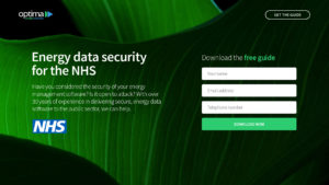 Optima NHS data security landing page by Content Coms