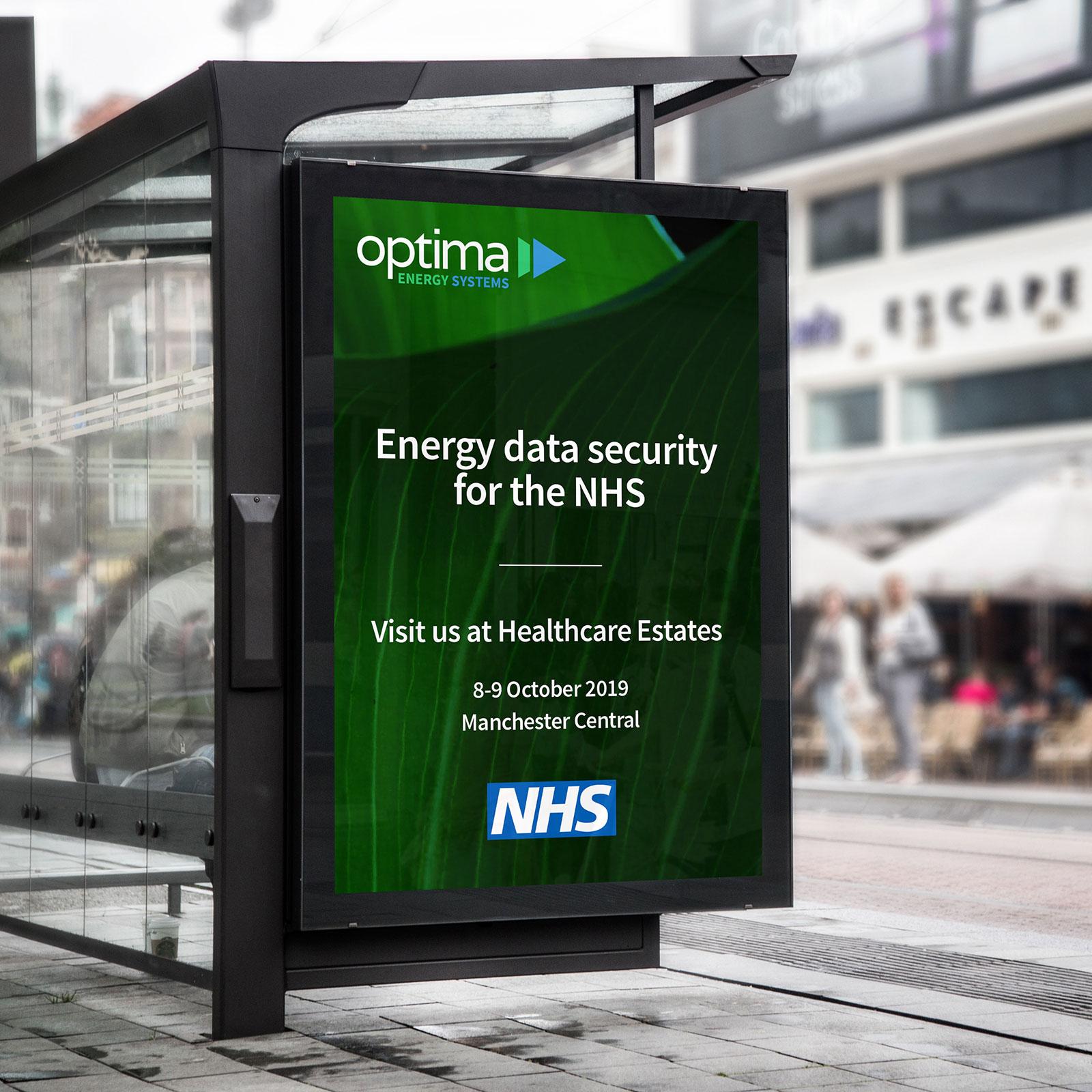 Optima Healthcare Estates Manchester 2019 Poster Design