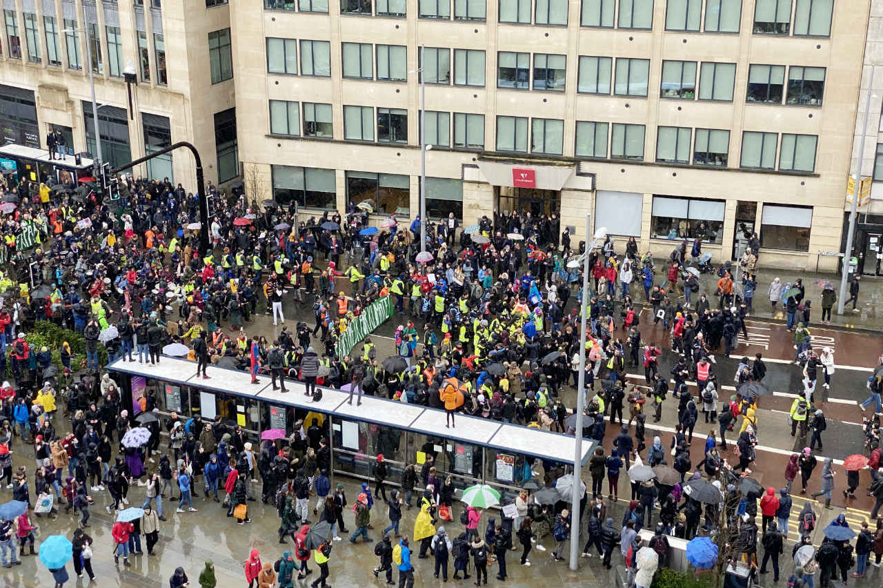 Greta visits Bristol on a damp Friday on February 28 2020. Greta Thunberg, was talking at the Bristol Youth Strike 4 Climate (BY24C) event.