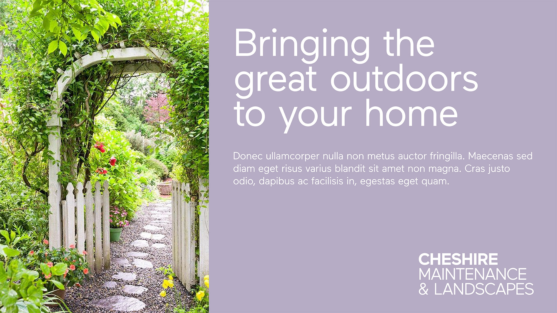 Cheshire Maintenance & Landscapes - Brand Exploration 2