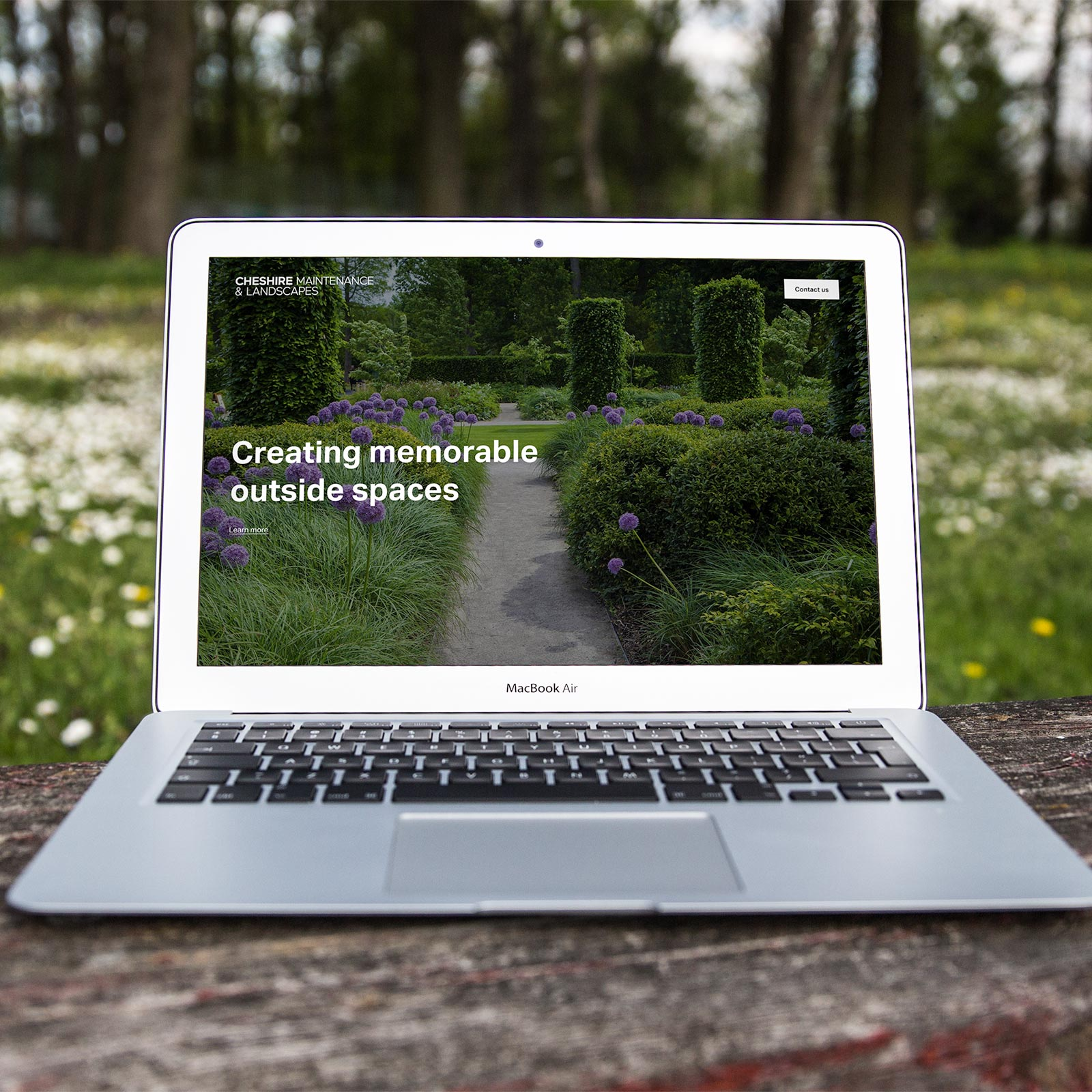 Cheshire Maintenance & Landscapes - Website Homepage Design