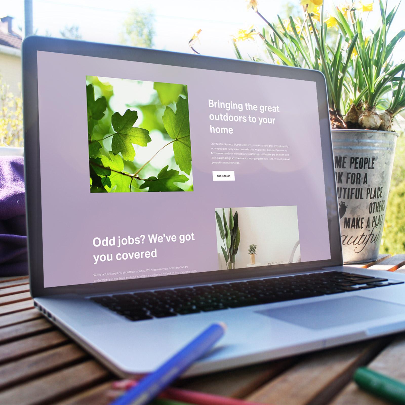 Cheshire Maintenance & Landscapes - Single Page Web Design + Content