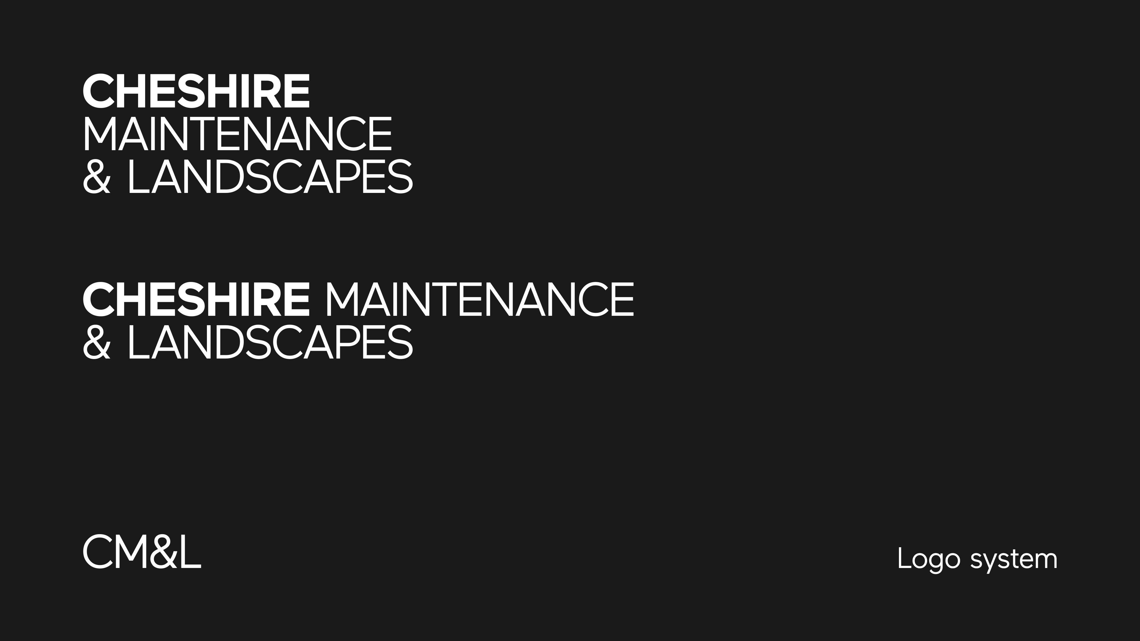 Cheshire Maintenance & Landscapes - Logo System