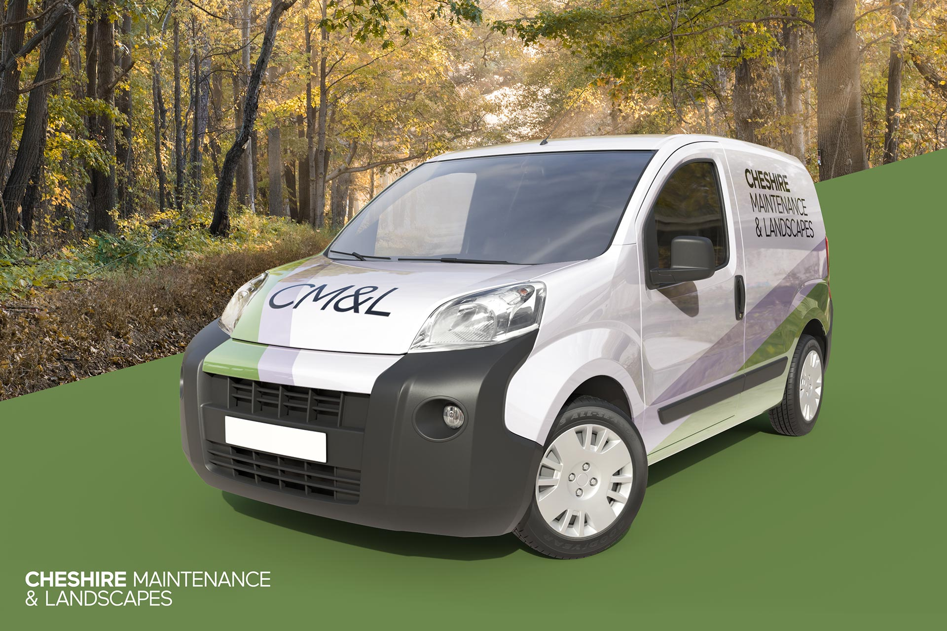 Cheshire Maintenance & Landscapes - Van Livery Design Mockup